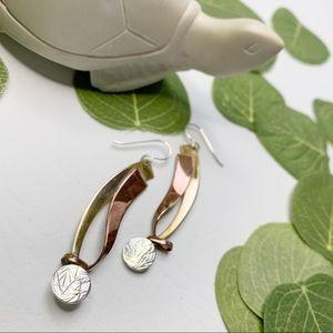 Jewelry - Copper & Gold Ribbon Earrings
